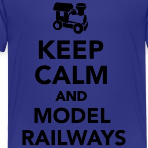Keep calm and model railways Kids' Shirts - Toddler Premium T-Shirt