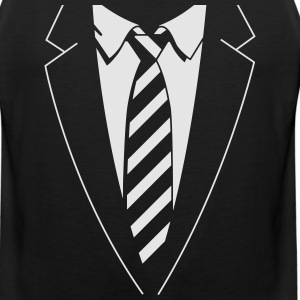 Tuxedo Striped Tie Women's T-Shirts - Men's Premium Tank