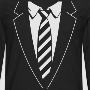 Tuxedo Striped Tie T-Shirts - Men's Premium Long Sleeve T-Shirt