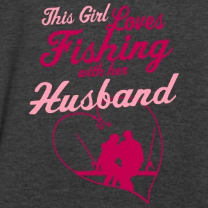 Fishing With Her Husband - Country Closet Tanks - Men's V-Neck T-Shirt by Canvas