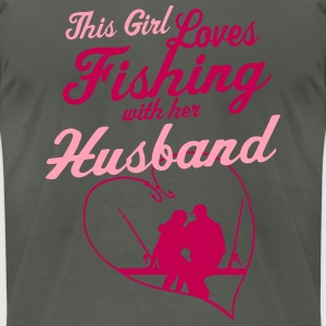 Fishing With Her Husband - Country Closet Hoodies - Men's T-Shirt by American Apparel