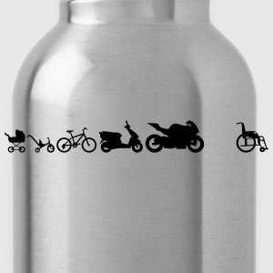 Motorcycle evolution wheelchairShirt - Water Bottle