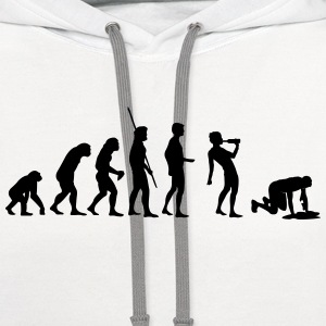 Evolution drinking Shirt - Contrast Hoodie