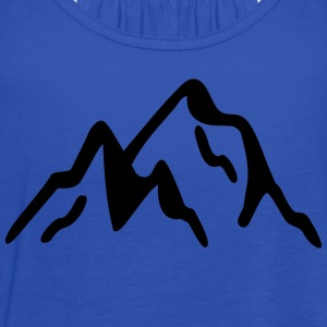 mountains T-Shirts - Women's Flowy Tank Top by Bella