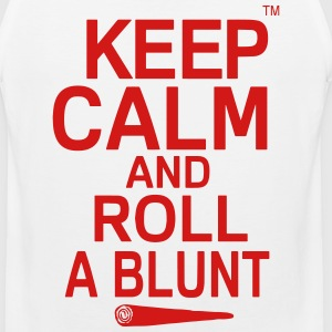 Keep Calm And Roll A Blunt T-Shirts - Men's Premium Tank