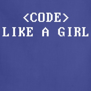 Code Like a Girl Women's T-Shirts - Adjustable Apron