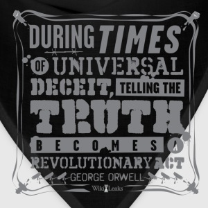 Orwell - Truth becomes a revolutionary act Hoodies - Bandana