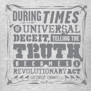 Orwell - Truth becomes a revolutionary act Long Sleeve Shirts - Men's T-Shirt