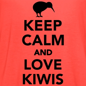 Keep calm and love kiwis Women's T-Shirts - Women's Flowy Tank Top by Bella