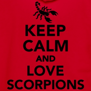 Keep calm and love scorpions Women's T-Shirts - Unisex Fleece Zip Hoodie by American Apparel