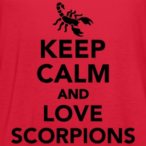 Keep calm and love scorpions Women's T-Shirts - Women's Flowy Tank Top by Bella