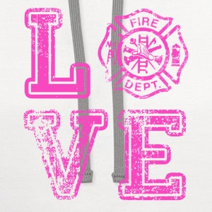 FD-LOVE-PINK Women's T-Shirts - Contrast Hoodie