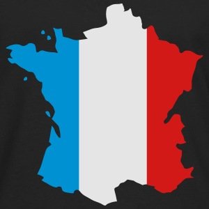 France; France Map; Flag Map France Kids' Shirts - Men's Premium Long Sleeve T-Shirt