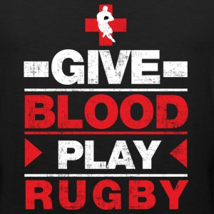 Give Blood Play Rugby T-Shirts - Men's Premium Tank