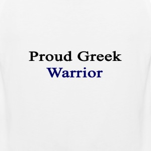proud_greek_warrior T-Shirts - Men's Premium Tank