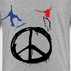 Skate for Peace & Longboard for Peace Kids' Shirts - Toddler Premium T-Shirt