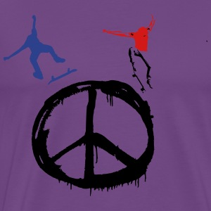 Skate for Peace & Longboard for Peace Hoodies - Men's Premium T-Shirt