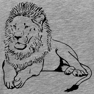 Lion - Africa - Safari Long Sleeve Shirts - Men's Premium T-Shirt