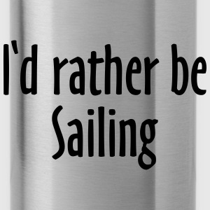I'd rather be sailing Tote Bag (Blue/White) - Water Bottle