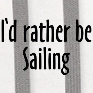 I'd rather be sailing Baseball Cap (Blue/White) - Contrast Hoodie
