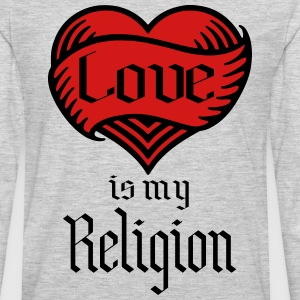love is my religion T-Shirts - Men's Premium Long Sleeve T-Shirt