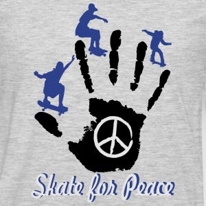 Skateboarding & Longboarding for Peace Kids' Shirts - Men's Premium Long Sleeve T-Shirt