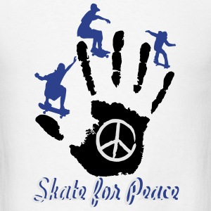 Skateboarding & Longboarding for Peace Hoodies - Men's T-Shirt