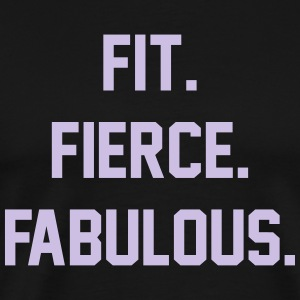 FIT FIERCE FABULOUS Tanks - Men's Premium T-Shirt