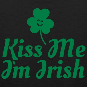 kiss me i'm irish fancy / clover / shamrock Long Sleeve Shirts - Men's Premium Tank