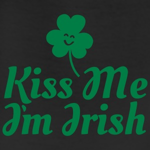 kiss me i'm irish fancy / clover / shamrock Long Sleeve Shirts - Leggings
