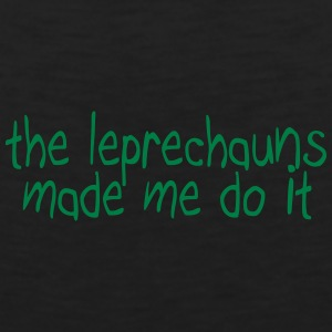 the leprechauns made me do it Baby Bodysuits - Men's Premium Tank