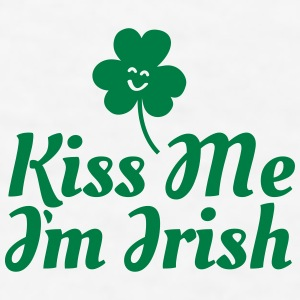 kiss me i'm irish fancy / clover / shamrock Mugs & Drinkware - Men's T-Shirt