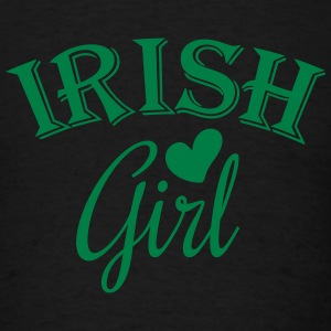 irish girl / irish girl heart Long Sleeve Shirts - Men's T-Shirt