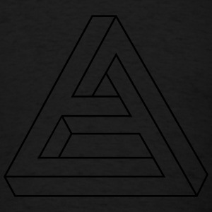 Optical Illusion -  Impossible figure - Triangle Long Sleeve Shirts - Men's T-Shirt