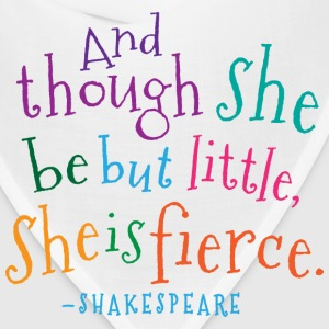 She Is Fierce Shakespeare Quote Baby & Toddler Shirts - Bandana