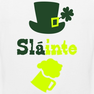 Slainte cheers green beer Men's Premium T-Shirt - Men's Premium Tank