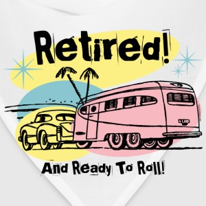Retro Trailer Retired Women's T-Shirts - Bandana
