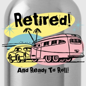 Retro Trailer Retired Women's T-Shirts - Water Bottle