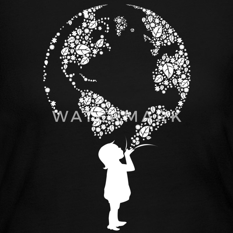 Earth Day Child (white) Long Sleeve Shirts - Women's Long Sleeve Jersey T-Shirt