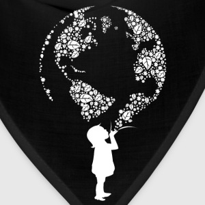 Earth Day Child (white) Women's T-Shirts - Bandana