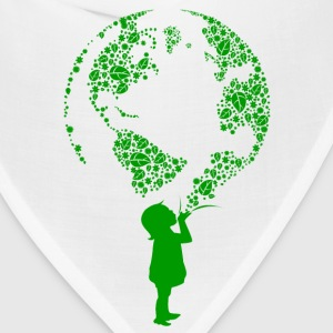 Earth Child (green) Women's T-Shirts - Bandana