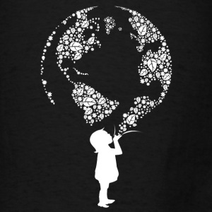Earth Day Child (white) Bags & backpacks - Men's T-Shirt