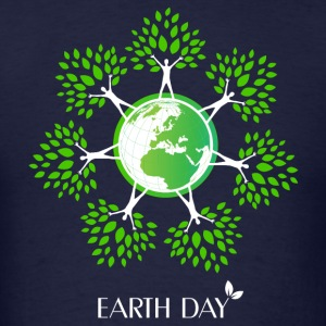 Earth Day Tree People Long Sleeve Shirts - Men's T-Shirt