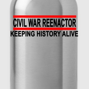 civil_war_reenactor_tshirt - Water Bottle