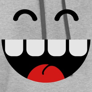 cute monster teeth T-Shirts - Contrast Hoodie
