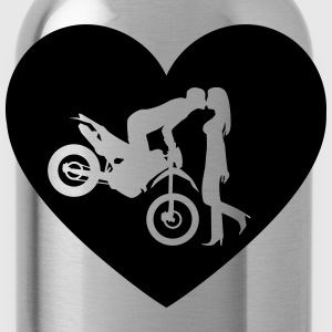 Motorcycle Enduro Cross kiss Shirt - Water Bottle