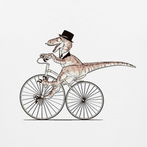 gentleman Dino riding - Men's Premium Tank