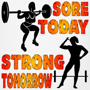 Sore Today Strong Tomorrow Female Fitness - Men's T-Shirt