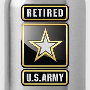 U.S.  Army Retired Logo 3D - Water Bottle