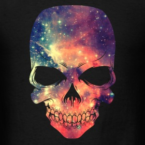 Universe - Space - Galaxy Skull Caps - Men's T-Shirt